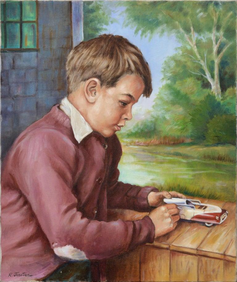 Ralph Edward Joosten Portrait Painting - Boy with a Toy Car