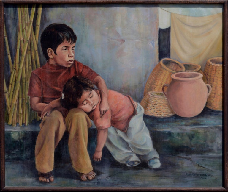 Ralph Edward Joosten Figurative Painting - Siblings (Sleeping Sister) Mexico 1980