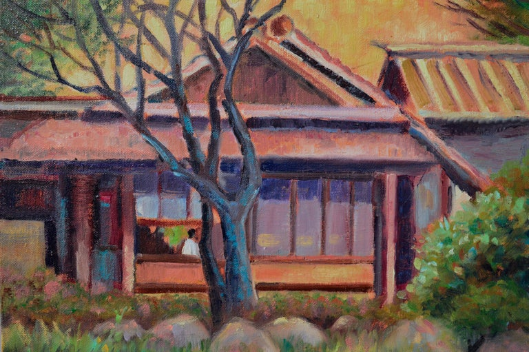 The Tea House - Painting by Ralph Edward Joosten
