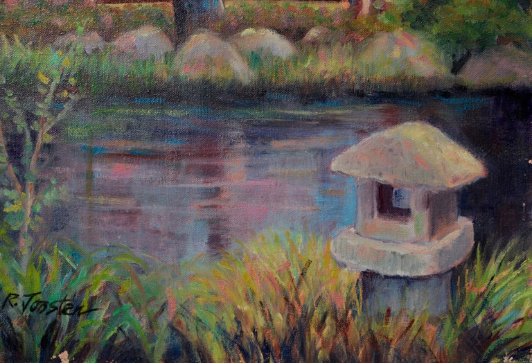 The Tea House - American Impressionist Painting by Ralph Edward Joosten