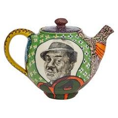 Ralph Ellison Teapot in Glazed Ceramic by Roberto Lugo