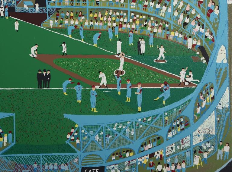 Ballpark, Serigraph by Ralph Fasanella For Sale 1