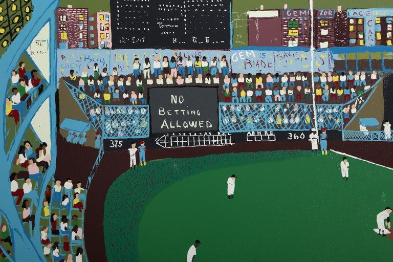Ballpark, Serigraph by Ralph Fasanella For Sale 2
