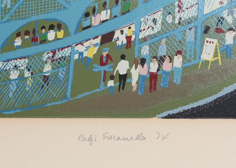 Ballpark, Serigraph by Ralph Fasanella For Sale 3