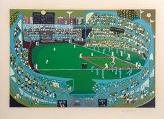 Ballpark, Silkscreen by Ralph Fasanella