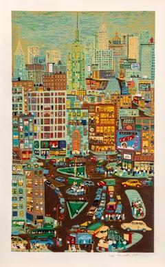 Empire State Building, Screenprint by Ralph Fasanella
