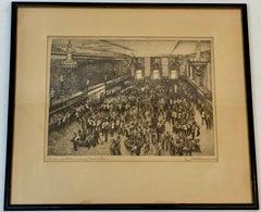 "Ralph Fletcher Seymour ""The Chicago Stock Exchange Trading Floor"" c.1930"