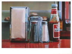 "Ralph Goings-Color Pick-27"" x 36.25""-Poster-1982-Realism-Red-ketchup, napkins"