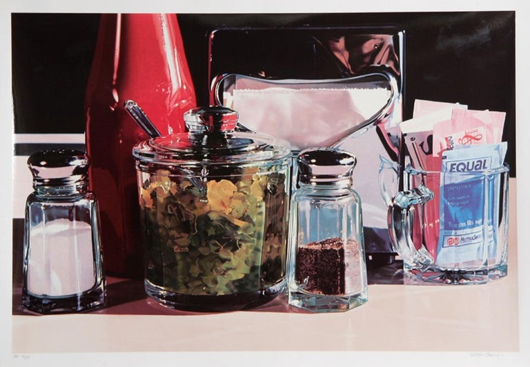 Relish by Ralph Goings, American (1928–2016) Date: circa 1990 Screenprint, Signed and numbered in pencil Edition of 195,AP 55 Size: 25 in. x 38 in. (63.5 cm x 96.52 cm)