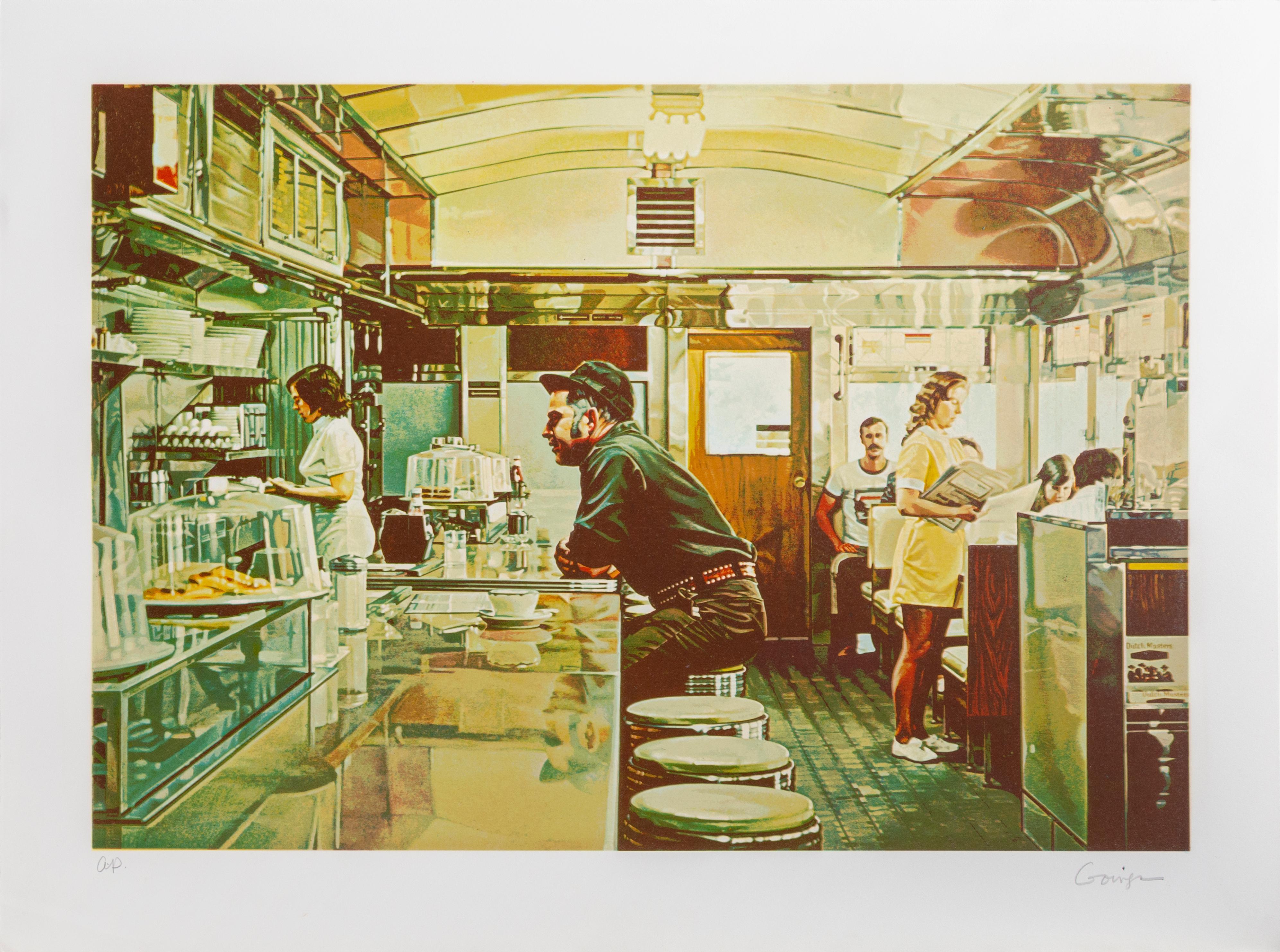 Unadilla Diner, Photorealist Silkscreen by Ralph Goings