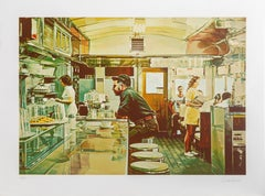 Unadilla Diner, Photorealist Silkscreen by Ralph Goings
