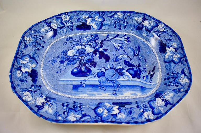 Glazed Ralph & James Clews Staffordshire Transferware Well & Tree 'Coronation' Platter For Sale