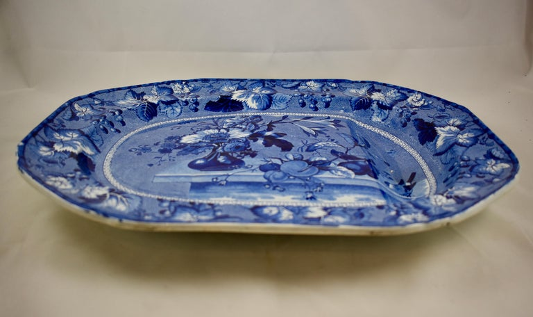 Ralph & James Clews Staffordshire Transferware Well & Tree 'Coronation' Platter For Sale 1