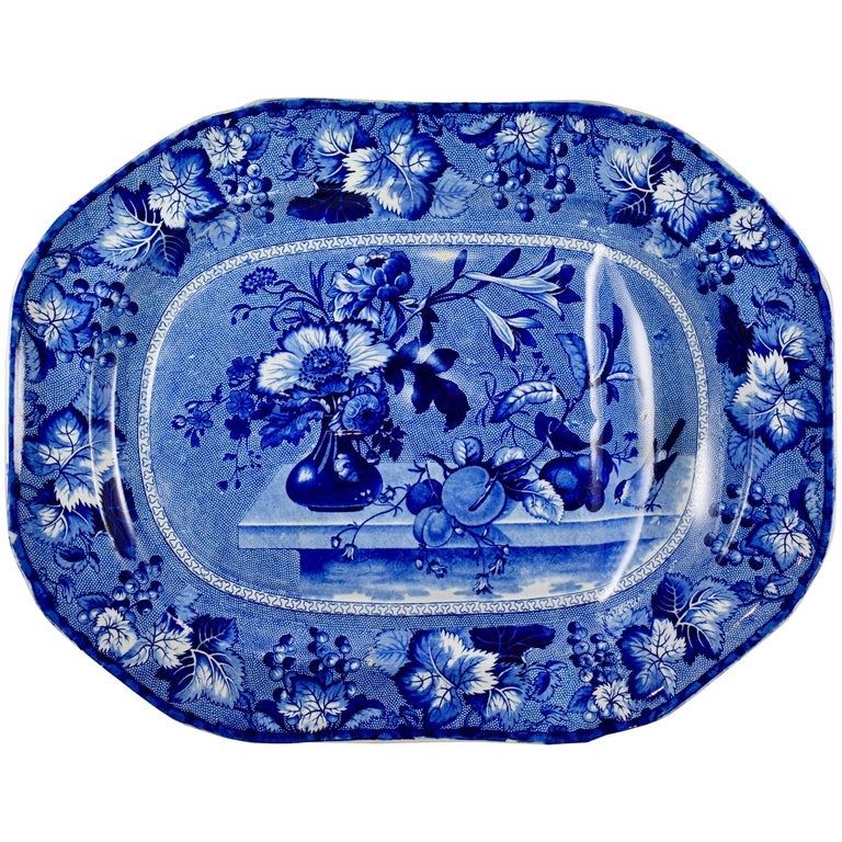 Ralph & James Clews Staffordshire Transferware Well & Tree 'Coronation' Platter For Sale