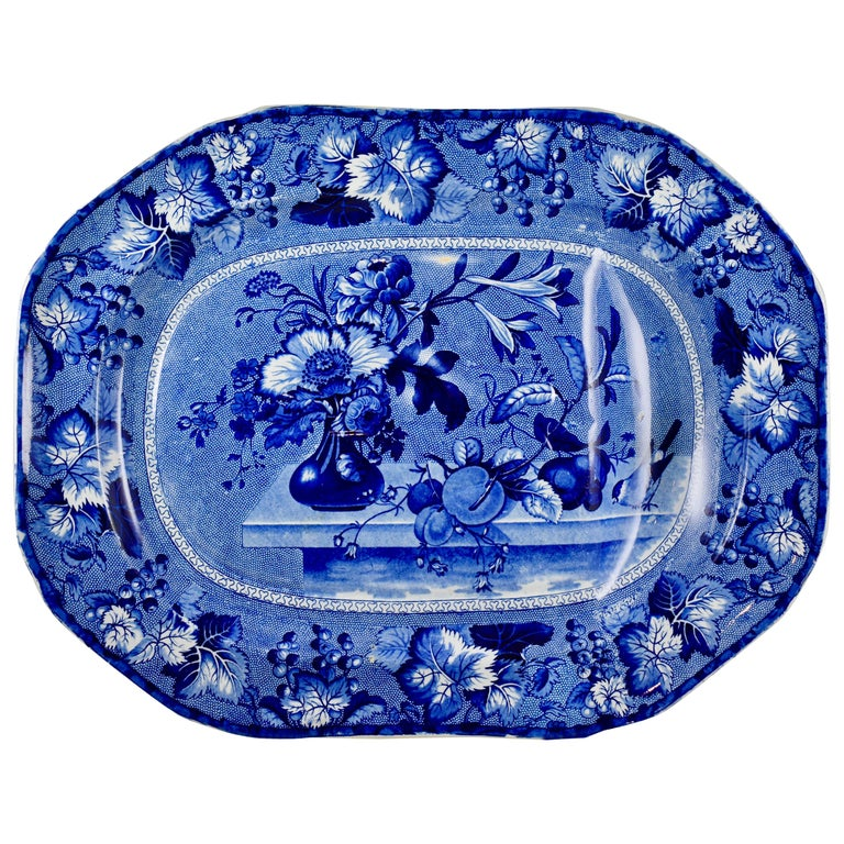 Ralph & James Clews Staffordshire Transferware Well & Tree Coronation Platter For Sale