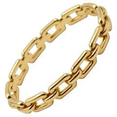 Ralph Lauren 18 Karat Rose Gold Chunky Chain Bangle Bracelet R4122420
