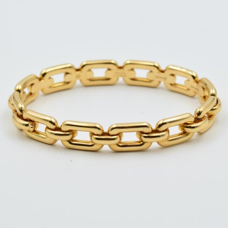 Ralph Lauren 18 Karat Rose Gold Chunky Chain Bangle Bracelet R4122420 In New Condition For Sale In Carmel, IN