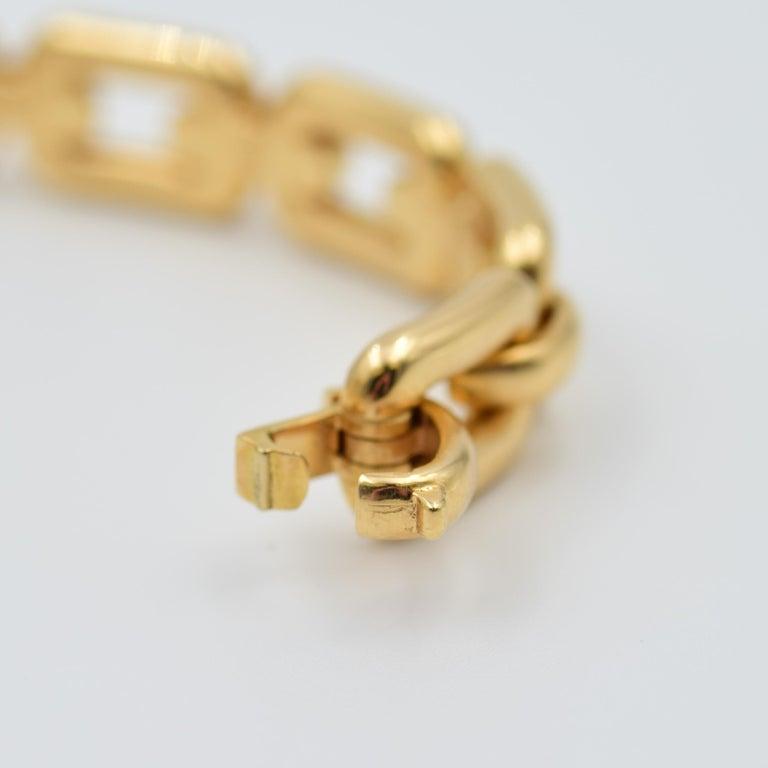 Ralph Lauren 18 Karat Rose Gold Chunky Chain Bangle Bracelet R4122420 For Sale 1