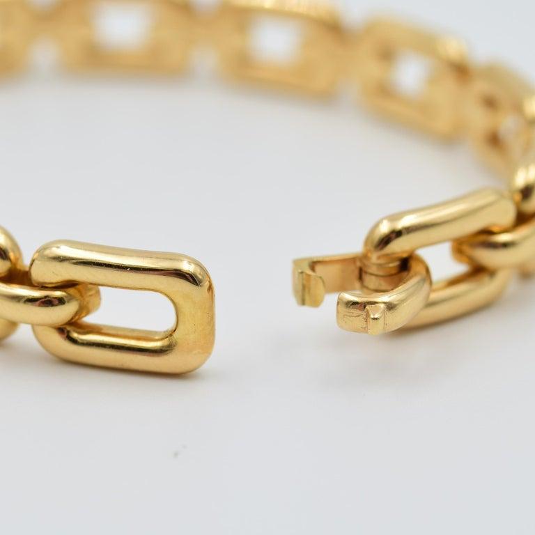 Ralph Lauren 18 Karat Rose Gold Chunky Chain Bangle Bracelet R4122420 For Sale 2