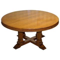 Ralph Lauren Hither Hills 6-10 Person Large Round Extending to Oval Dining Table