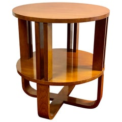 Ralph Lauren Art Deco End, Lamp, Wine Table Walnut Hollywood Modern Collection