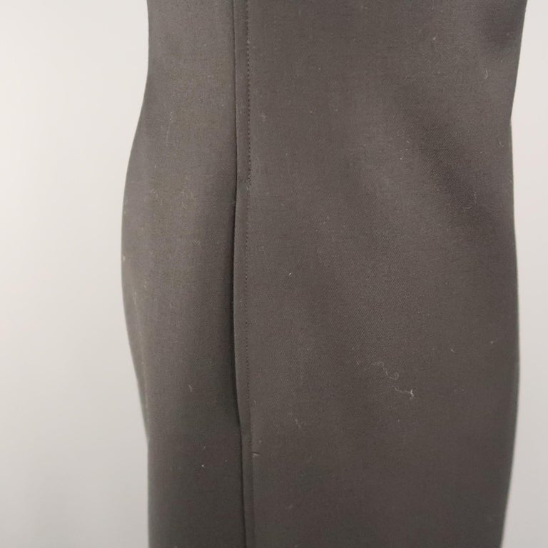 RALPH LAUREN Back Label Size 8 Black Virgin Wool Sleeveless Shift Dress In Excellent Condition For Sale In San Francisco, CA