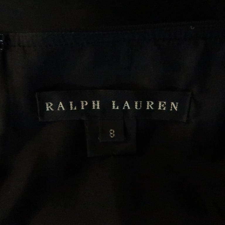 RALPH LAUREN Back Label Size 8 Black Virgin Wool Sleeveless Shift Dress For Sale 1