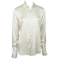 Ralph Lauren BL Champagne Silk Shirt w/ Front Tucks - 6 - NWT