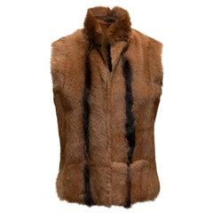 Ralph Lauren Black Label Brown Goat Fur Vest