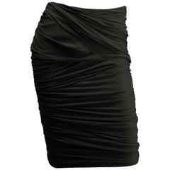 Ralph Lauren Black Label Size 6 Olive Green Ruched Skirt