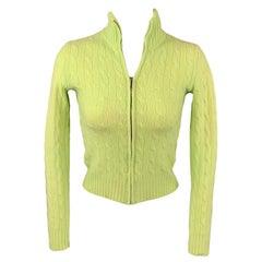RALPH LAUREN Black Label Size S Chartreuse Cashmere Pullover