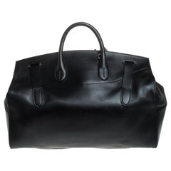 Ralph Lauren Black Leather Ricky Suitcase