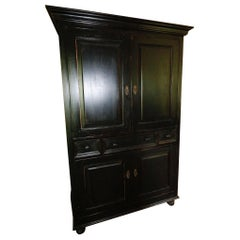 Ralph Lauren Black Matte Armoire Dovetailed Storage Solid Structure Mix it Up