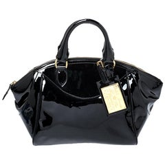Ralph Lauren Black Patent Leather Proprietor Satchel