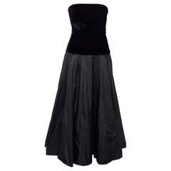 Ralph Lauren Black Strapless Gown - Size US 4