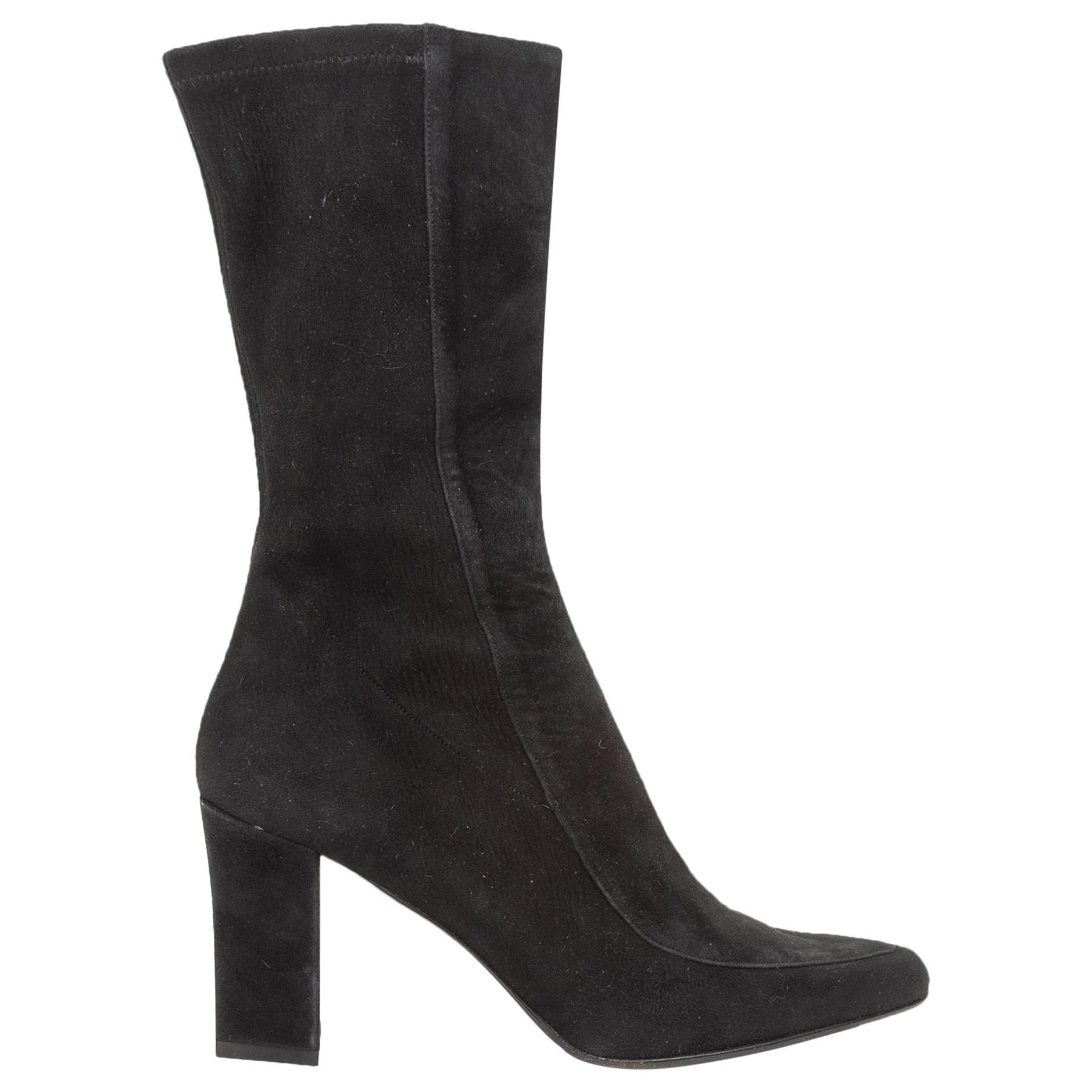 Ralph Lauren Black Suede Pointed-Toe Boots