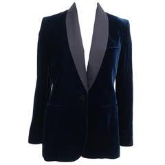Ralph Lauren Blue Velvet Tuxedo Jacket