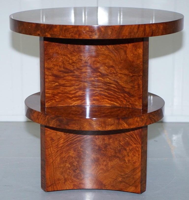 Ralph Lauren Brewster Solid Burl Burr Walnut Side End Lamp