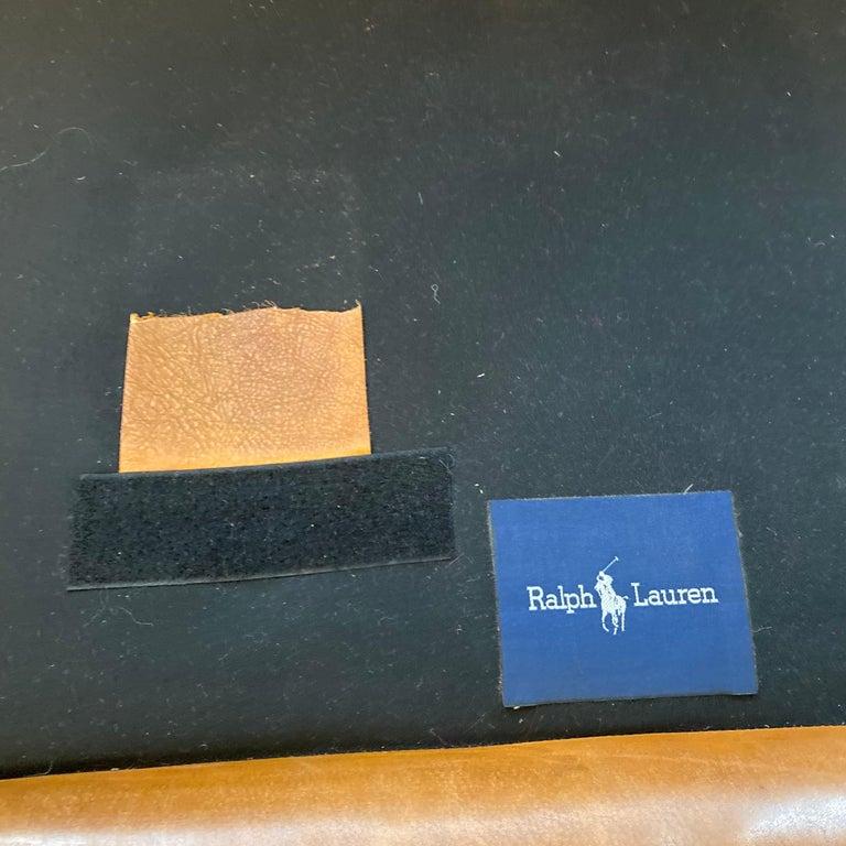 Ralph Lauren Brompton 3-Seat Vintage Brown Leather Sofa For Sale 7