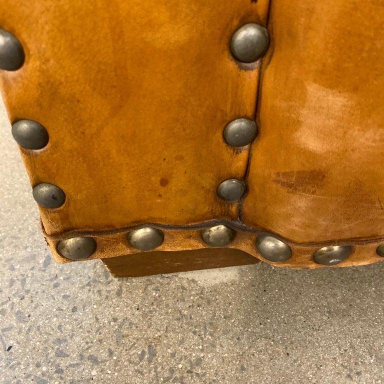 Ralph Lauren Brompton 3-Seat Vintage Brown Leather Sofa For Sale 10