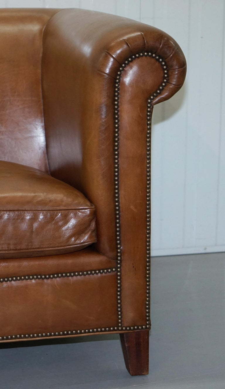 Swell Ralph Lauren Brompton 3 Seat Vintage Brown Heritage Leather Ncnpc Chair Design For Home Ncnpcorg