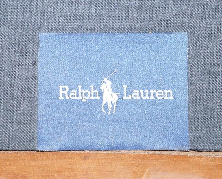 Ralph Lauren Brompton 3-Seat Vintage Brown Heritage Leather Sofa For Sale 8