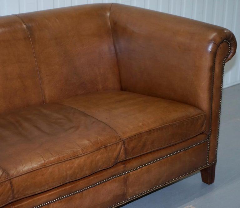 Amazing Ralph Lauren Brompton 3 Seat Vintage Brown Heritage Leather Inzonedesignstudio Interior Chair Design Inzonedesignstudiocom