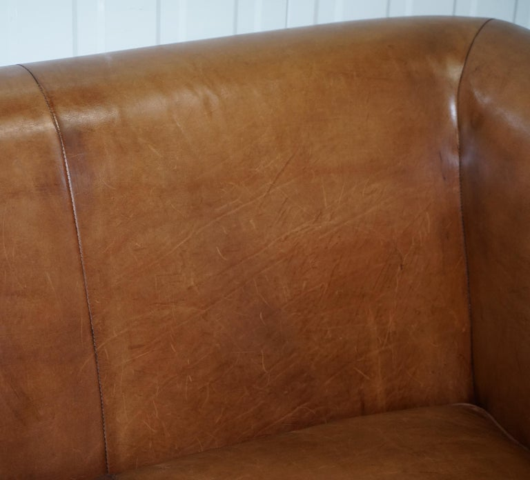 Brilliant Ralph Lauren Brompton 3 Seat Vintage Brown Heritage Leather Inzonedesignstudio Interior Chair Design Inzonedesignstudiocom