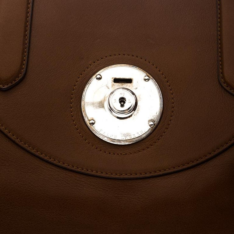 Ralph Lauren Brown Leather Ricky Tote For Sale 2