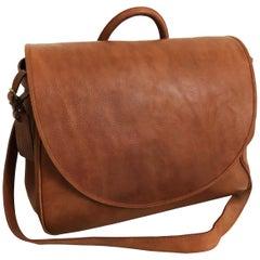Ralph Lauren Burnished Leather Mailbag XL Crossbody Travel Bag RL Country Rare