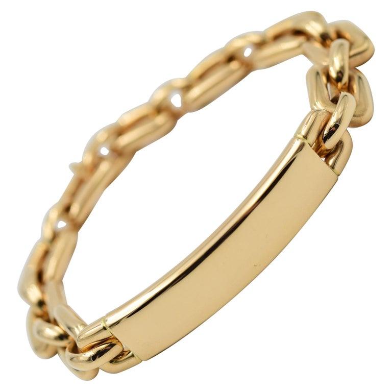 Ralph Lauren Chunky Chain ID Bracelet in 18 Karat Rose Gold For Sale