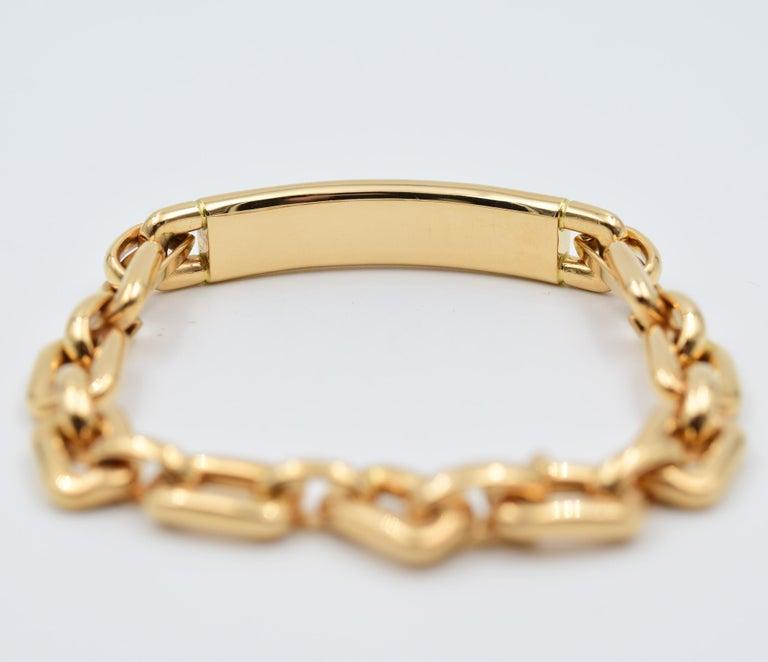 Ralph Lauren Chunky Chain ID Bracelet in 18 Karat Rose Gold In New Condition For Sale In Carmel, IN