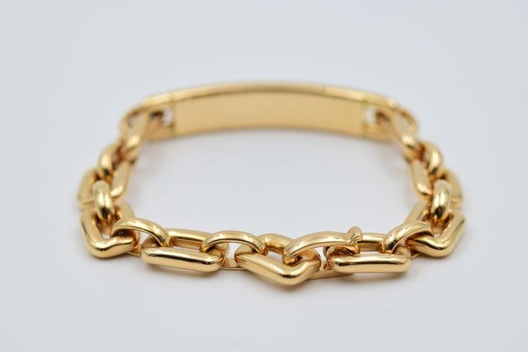Women's or Men's Ralph Lauren Chunky Chain ID Bracelet in 18 Karat Rose Gold For Sale