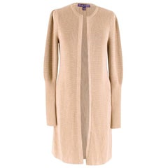 Ralph Lauren Collection Beige Knitted Longline Cardigan - Size S